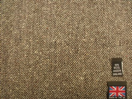 Pure New Wool Herringbone Tweed  Fabric  BZ09